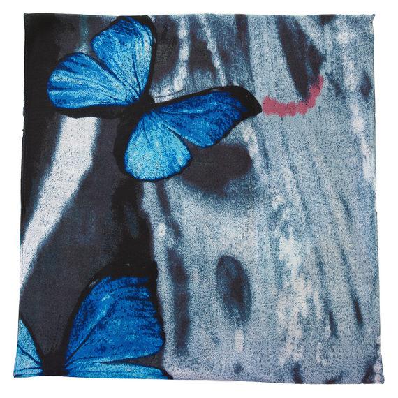 Шарф 30%бамбук,70%хлопок, цвет синий, арт. 15700232  - цена 440 руб.  - магазин TOTOGROUP