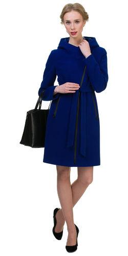 Текстильное пальто 30%шерсть, 70% п\а, цвет синий, арт. 15700407  - цена 6990 руб.  - магазин TOTOGROUP
