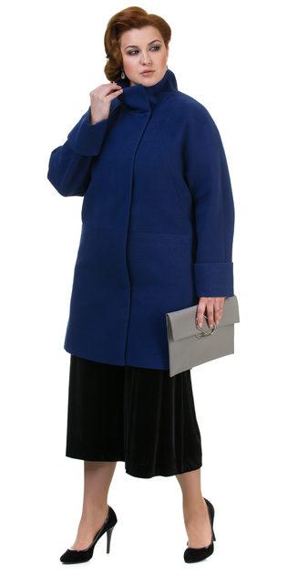 Текстильное пальто 70%шерсть,30%п,а, цвет синий, арт. 15700498  - цена 5990 руб.  - магазин TOTOGROUP