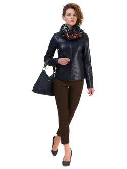 Кожаная куртка кожа овца, цвет темно-синий, арт. 15700522  - цена 14490 руб.  - магазин TOTOGROUP