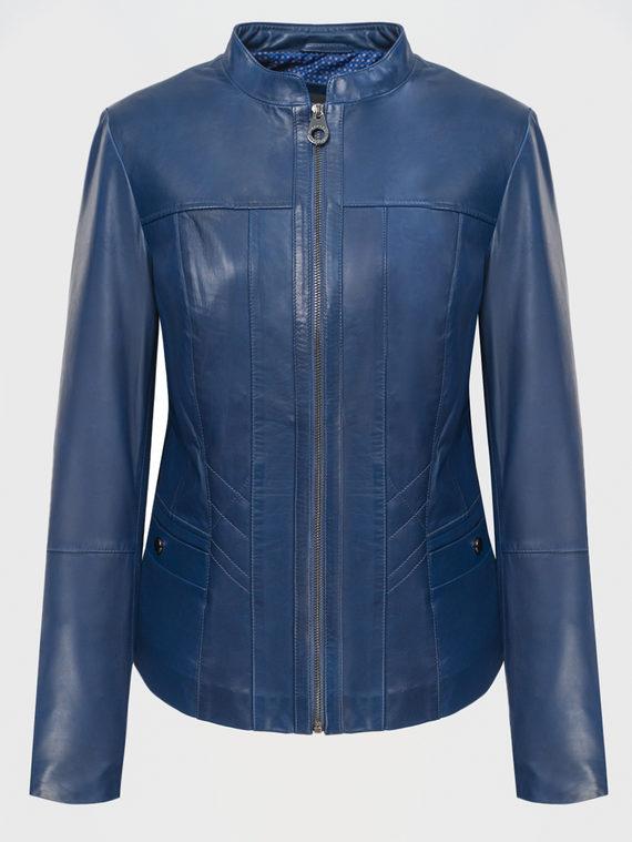 Кожаная куртка кожа, цвет синий, арт. 15802479  - цена 9990 руб.  - магазин TOTOGROUP