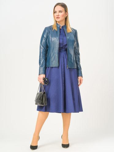 Кожаная куртка кожа, цвет синий, арт. 15802491  - цена 11990 руб.  - магазин TOTOGROUP