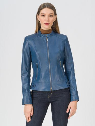 Кожаная куртка кожа, цвет синий, арт. 15809200  - цена 12690 руб.  - магазин TOTOGROUP