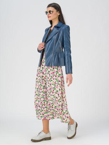 Кожаная куртка кожа, цвет синий, арт. 15809202  - цена 12690 руб.  - магазин TOTOGROUP