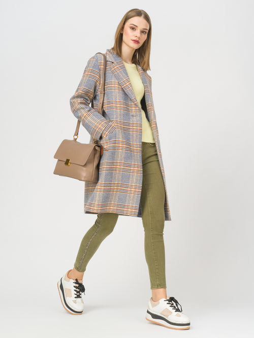 Текстильное пальто артикул 15809283/44 - фото 2