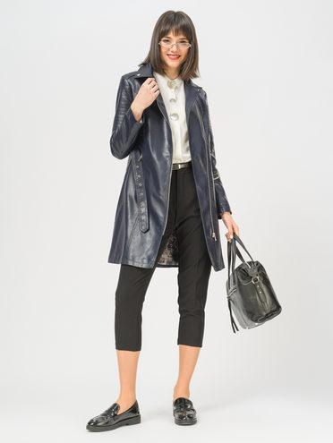 Кожаное пальто эко-кожа 100% П/А, цвет синий, арт. 15809897  - цена 3990 руб.  - магазин TOTOGROUP