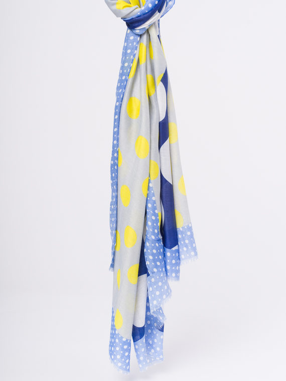 Шарф 50%хлопок,50%вискоза, цвет синий, арт. 15810300  - цена 590 руб.  - магазин TOTOGROUP