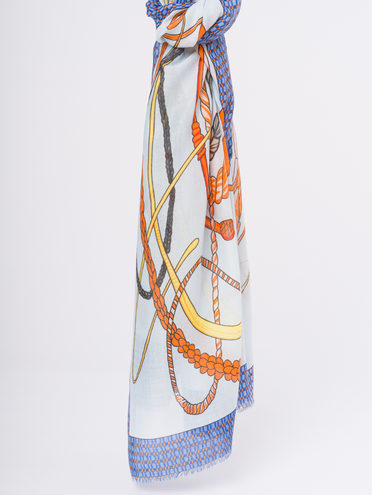 Шарф 50% хлопок,50% вискоза, цвет синий, арт. 15810301  - цена 940 руб.  - магазин TOTOGROUP