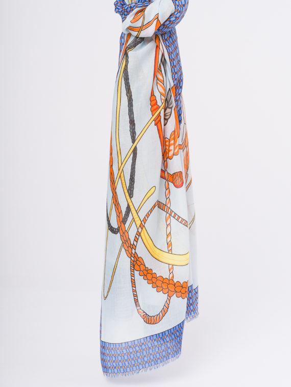 Шарф 50%хлопок,50%вискоза, цвет синий, арт. 15810301  - цена 940 руб.  - магазин TOTOGROUP