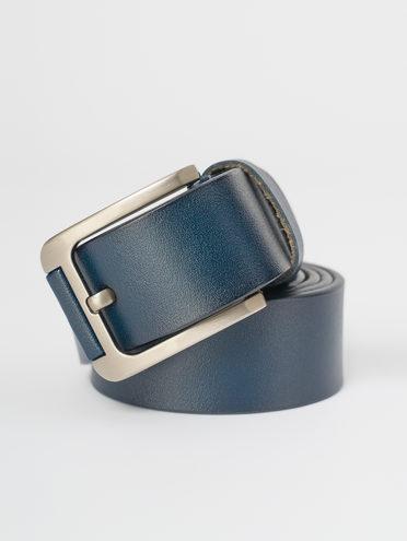 Ремень кожа теленок, цвет синий, арт. 15810376  - цена 890 руб.  - магазин TOTOGROUP