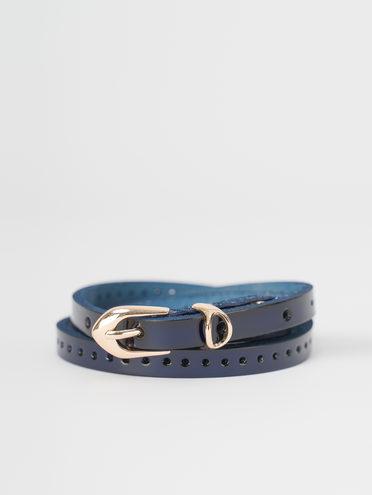 Ремень кожа теленок, цвет синий, арт. 15810397  - цена 500 руб.  - магазин TOTOGROUP