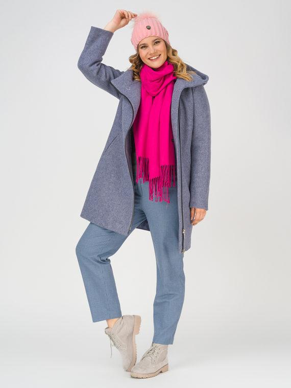Текстильное пальто 35% шерсть, 65% полиэстер, цвет синий, арт. 15810655  - цена 8990 руб.  - магазин TOTOGROUP