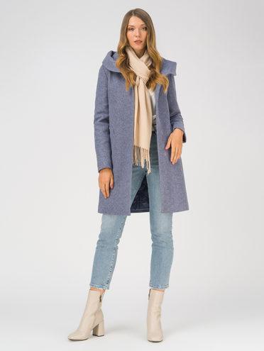 Текстильное пальто 35% шерсть, 65% полиэстер, цвет синий, арт. 15810657  - цена 6290 руб.  - магазин TOTOGROUP