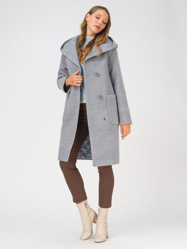 Текстильное пальто 35% шерсть, 65% полиэстер, цвет синий, арт. 15810659  - цена 6990 руб.  - магазин TOTOGROUP