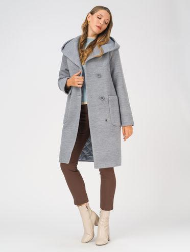 Текстильное пальто 35% шерсть, 65% полиэстер, цвет синий, арт. 15810659  - цена 5290 руб.  - магазин TOTOGROUP