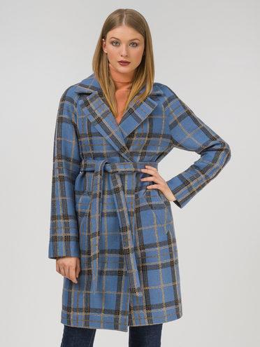 Текстильное пальто 35% шерсть, 65% полиэстер, цвет синий, арт. 15810665  - цена 9490 руб.  - магазин TOTOGROUP