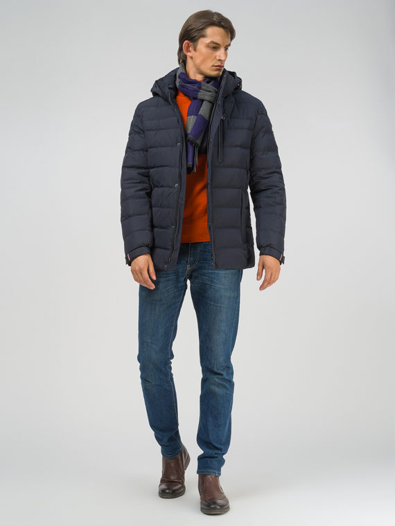 Пуховик текстиль, цвет синий, арт. 15810888  - цена 9490 руб.  - магазин TOTOGROUP