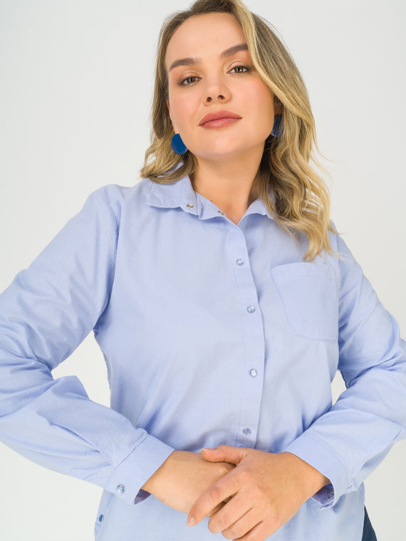 Блуза 100% хлопок, цвет синий, арт. 15811177  - цена 3390 руб.  - магазин TOTOGROUP