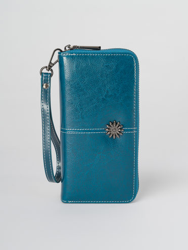Кошелек кожа корова, цвет синий, арт. 15811293  - цена 1130 руб.  - магазин TOTOGROUP