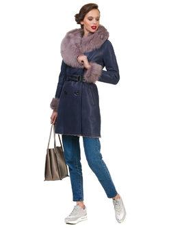 Дубленка дуб. овчина, цвет синий, арт. 15900622  - цена 42490 руб.  - магазин TOTOGROUP