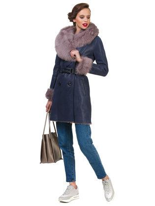Дубленка дуб. овчина, цвет синий, арт. 15900622  - цена 31990 руб.  - магазин TOTOGROUP