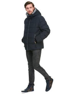 Пуховик текстиль, цвет темно-синий, арт. 15900681  - цена 7990 руб.  - магазин TOTOGROUP