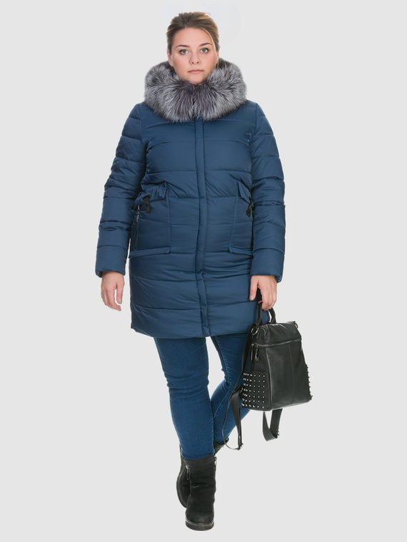 Пуховик текстиль, цвет синий, арт. 15900735  - цена 6990 руб.  - магазин TOTOGROUP