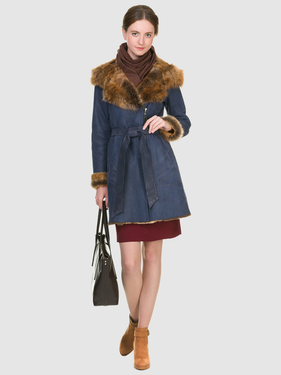Дубленка дуб. овчина, цвет синий, арт. 15900914  - цена 19990 руб.  - магазин TOTOGROUP