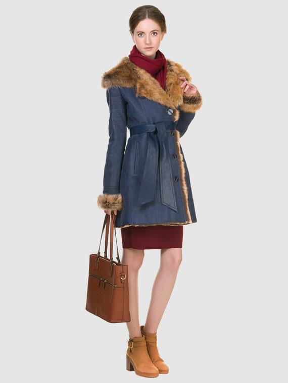 Дубленка дуб. овчина, цвет синий, арт. 15900916  - цена 19990 руб.  - магазин TOTOGROUP