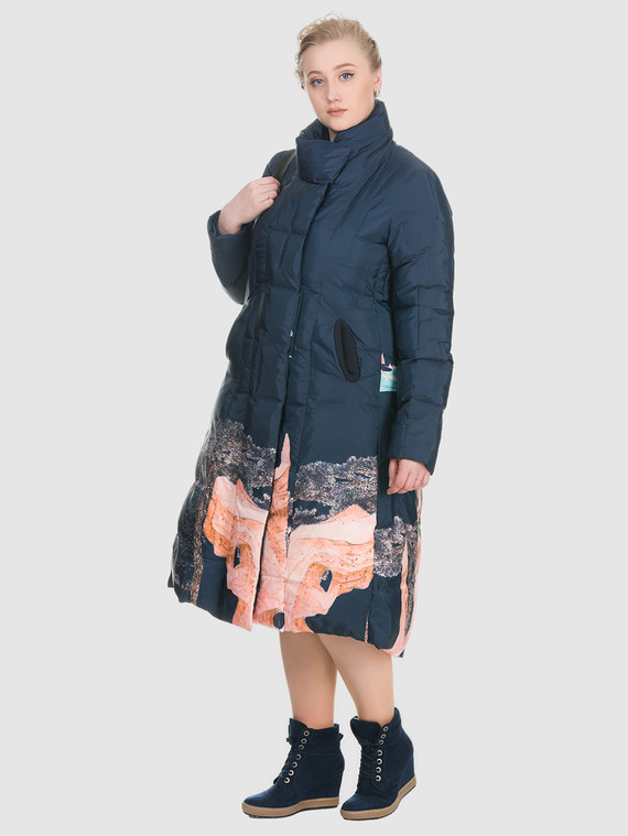 Пуховик текстиль, цвет синий, арт. 15900979  - цена 4740 руб.  - магазин TOTOGROUP