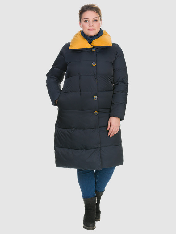 Пуховик текстиль, цвет синий, арт. 15900980  - цена 4490 руб.  - магазин TOTOGROUP