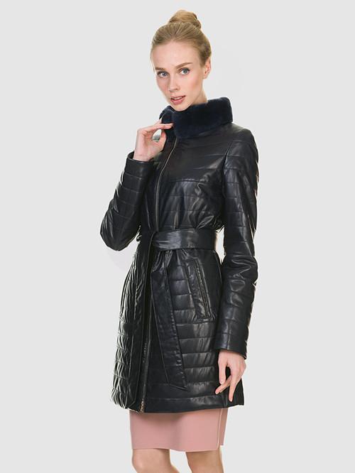 Кожаное пальто артикул 15902635/42 - фото 4