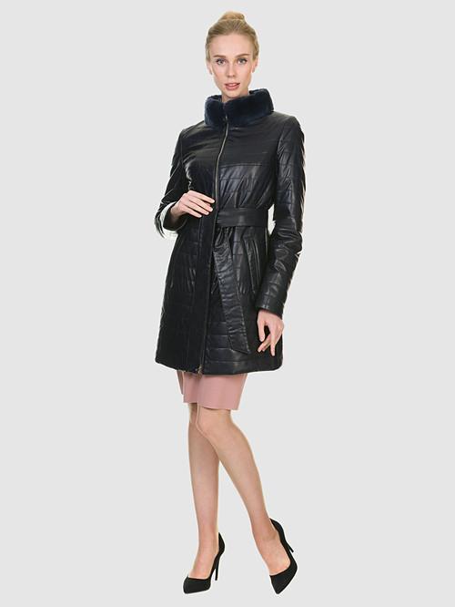 Кожаное пальто артикул 15902635/42