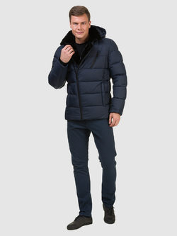 Пуховик текстиль, цвет синий, арт. 15902733  - цена 4990 руб.  - магазин TOTOGROUP