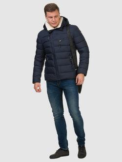 Пуховик текстиль, цвет синий, арт. 15902734  - цена 6990 руб.  - магазин TOTOGROUP