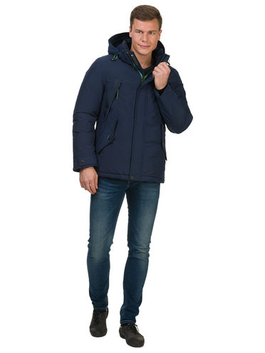 Пуховик текстиль, цвет синий, арт. 15902737  - цена 4490 руб.  - магазин TOTOGROUP