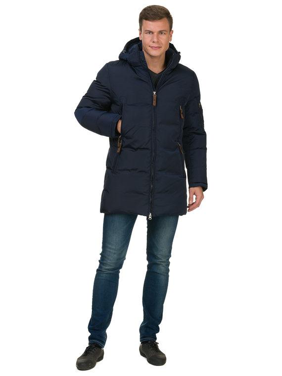 Пуховик текстиль, цвет синий, арт. 15902741  - цена 4490 руб.  - магазин TOTOGROUP