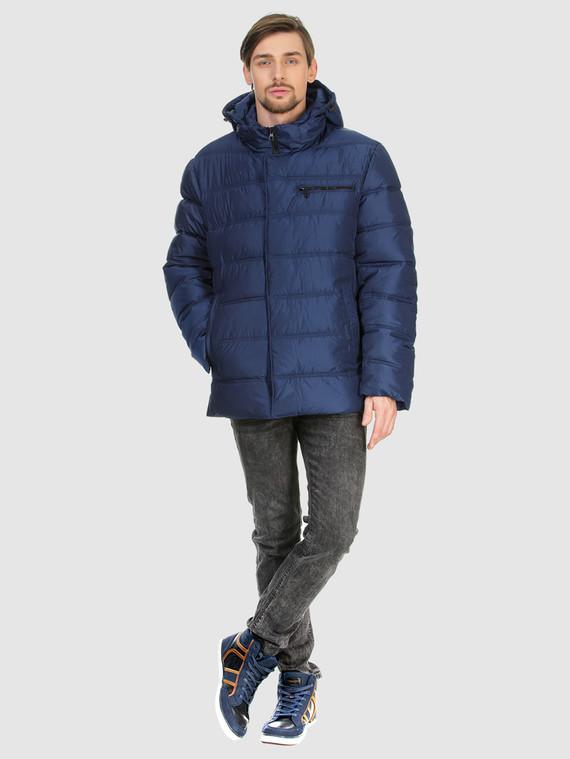 Пуховик текстиль, цвет синий, арт. 15902774  - цена 3990 руб.  - магазин TOTOGROUP