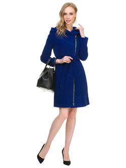 Текстильное пальто 30%шерсть, 70% п\а, цвет синий, арт. 15902904  - цена 5890 руб.  - магазин TOTOGROUP