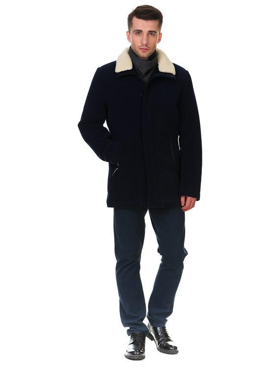 Текстильное пальто 51% п/э,49%шерсть, цвет синий, арт. 15902977  - цена 4990 руб.  - магазин TOTOGROUP