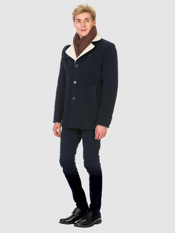 Текстильное пальто 51% п/э,49%шерсть, цвет синий, арт. 15902978  - цена 4990 руб.  - магазин TOTOGROUP