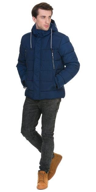Пуховик текстиль, цвет синий, арт. 15903375  - цена 4990 руб.  - магазин TOTOGROUP