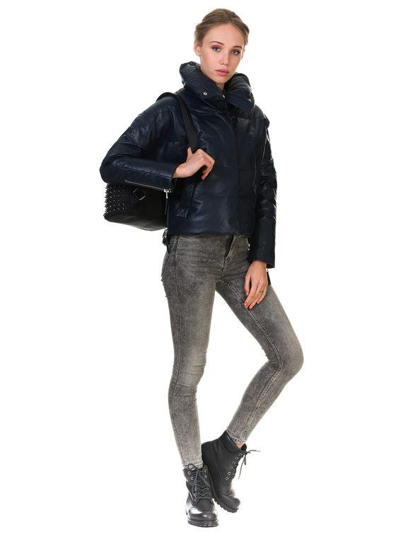 Кожаная куртка кожа , цвет синий, арт. 15903458  - цена 10590 руб.  - магазин TOTOGROUP