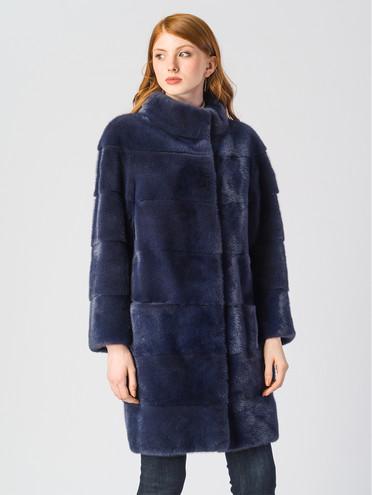 Шуба из норки мех норка, цвет синий, арт. 15903513  - цена 105990 руб.  - магазин TOTOGROUP