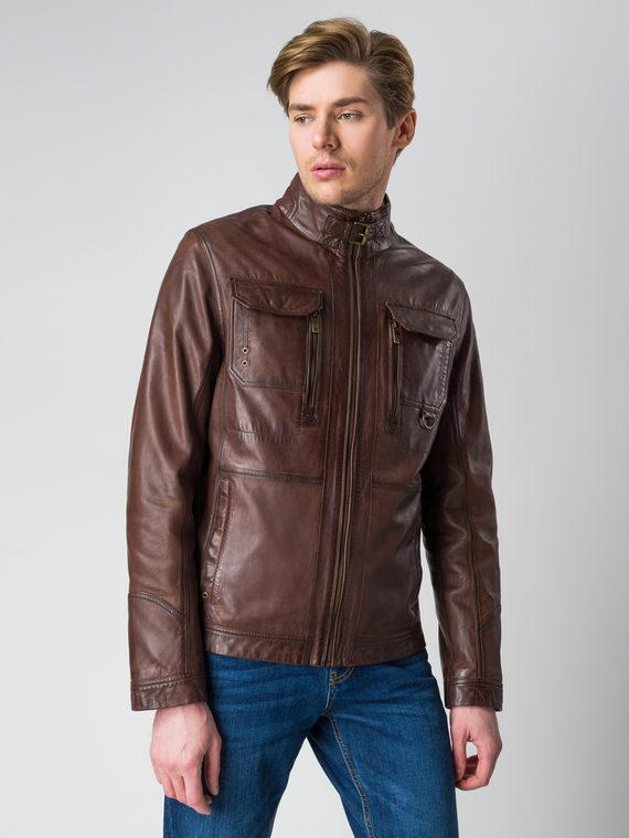 Кожаная куртка кожа , цвет темно-коричневый, арт. 16003409  - цена 14990 руб.  - магазин TOTOGROUP