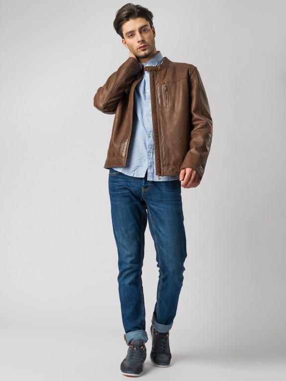 Кожаная куртка кожа , цвет коричневый, арт. 16003411  - цена 11290 руб.  - магазин TOTOGROUP