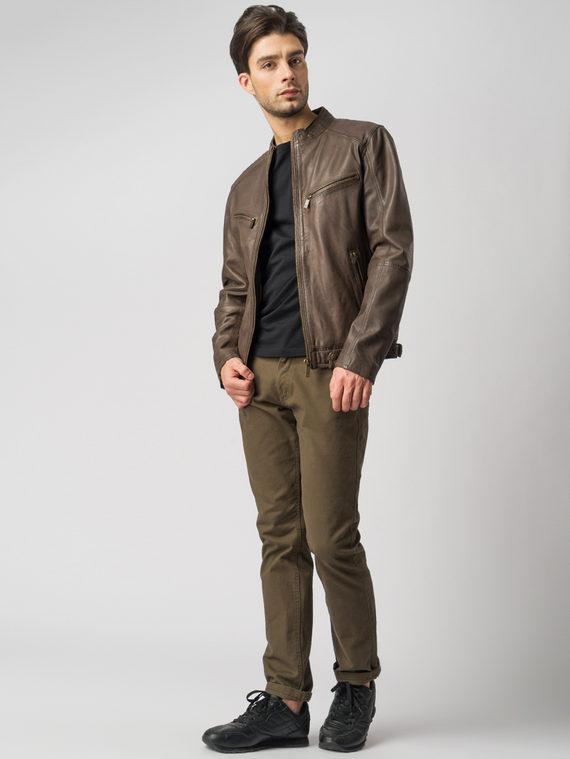 Кожаная куртка кожа , цвет коричневый, арт. 16003417  - цена 13390 руб.  - магазин TOTOGROUP