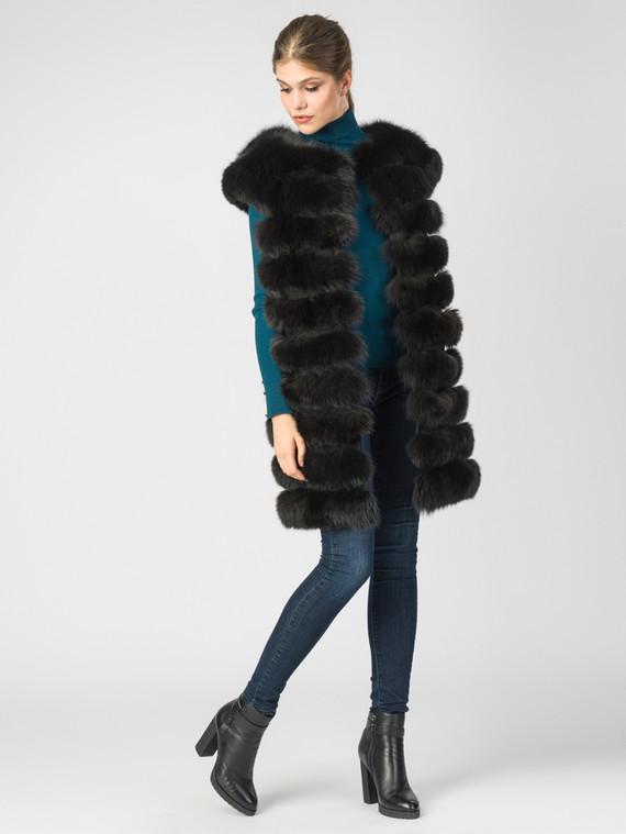 Меховой жилет мех песец, цвет темно-коричневый, арт. 16006402  - цена 25590 руб.  - магазин TOTOGROUP