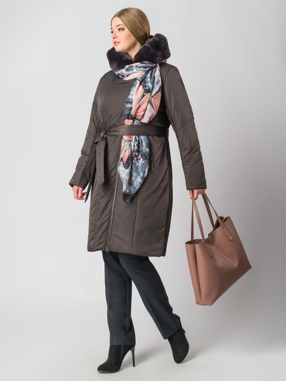 Пуховик текстиль, цвет темно-коричневый, арт. 16006461  - цена 14990 руб.  - магазин TOTOGROUP