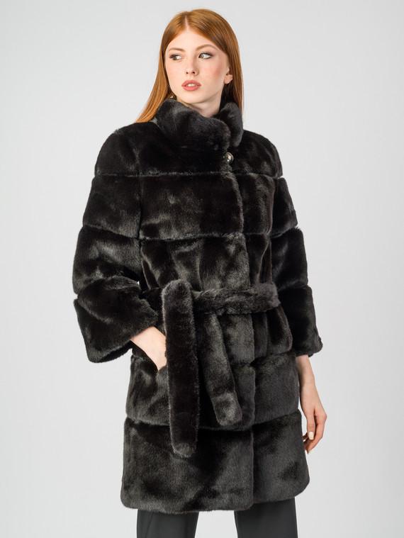 Шуба под норку мех искусственный под норку, цвет темно-коричневый, арт. 16006825  - цена 8990 руб.  - магазин TOTOGROUP